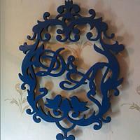 Свадебный деревянный герб №3