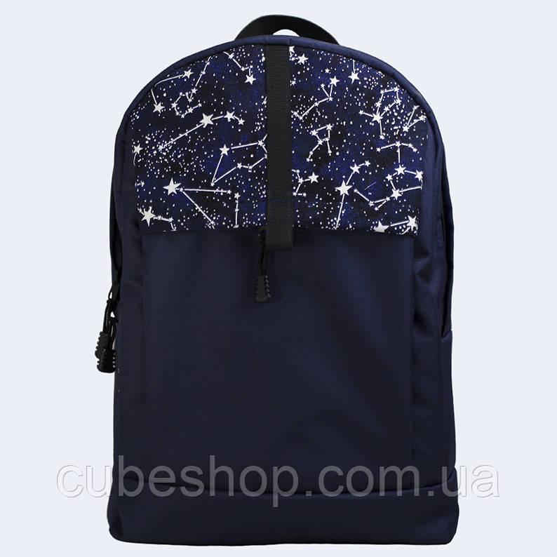 Синий рюкзак с созвездиями
