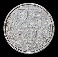 Монета Молдавии 25 бани 1993 год