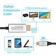 Кабель HdLink-60H HDMI - USB Type-C Grey, фото 5