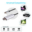 Кабель HdLink-60H HDMI - USB Type-C Grey, фото 6