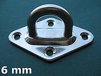 Нержавеющий обух мачтовый на ромбовидном основании, 6 мм