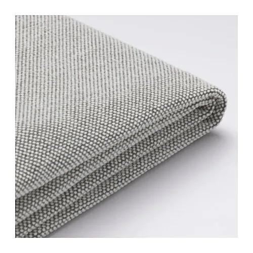 Чехол подушки сидения кресла IKEA DELAKTIG Tallmyra белый серый 503.948.20