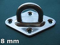 Нержавеющий обух мачтовый на ромбовидном основании, 8 мм
