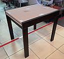 Стіл обідній Слайдер Горіх зі склом Латте, 81,5(+81,5)*67см, фото 2