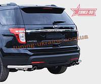 "Защита заднего бампера d 76 ""уголки"" Союз 96 на Ford Explorer 2011"