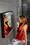 Дзеркало з підсвічуванням Ravak Classic 700 StripOnyx чорний/білий, фото 4