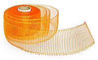 Лента флористическая 5 см 9 метров  оранжевая