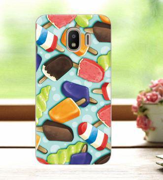 Оригинальный бампер с картинкой для Samsung J4 2018 Galaxy J400 Мороженное