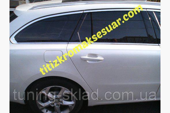 Хром  полная окантовка стекол SW Peugeot 508  (Пежо)
