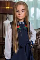 Школьный сарафан для девочки с вышивкой, фото 1