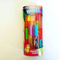 Набор бальзамов для губ Nerds Rainbow 6 шт с кисточкой