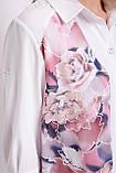 Двойной блузон Любава  розы, фото 4