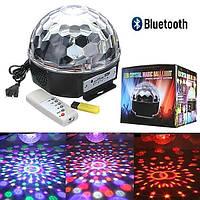 Светодиодный диско шар LED Ball Light с MP3, USB и Bluetooth
