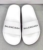 """Сланцы женские Balenciaga """"Белые с черной подошвой""""  р. 36-40, фото 1"""