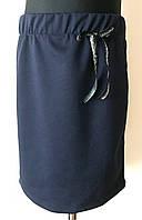 Школьная юбка для девочки синего цвета,школьная форма 2018, фото 1