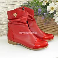 Ботинки женские демисезонные красные на низком ходу d2dfdda176d37