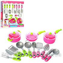 Набор Посуда Столовые Приборы Кастрюля Сковорода Детская Посудка 21682, 006466