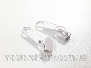 Бегунок для спиральной молнии №5 (сумочный) цвет белый