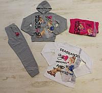 Трикотажный костюм 3 в 1 для девочек оптом, Crossfire, 134-164 см,  № CF-1138, фото 1