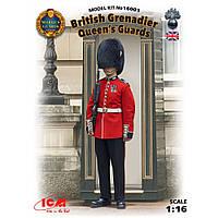 Гренадер королевской гвардии Великобритании. Сборная фигура в масштабе 1/16. ICM 16001