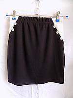 Женская юбка школа трикотаж оптом
