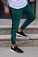 Мужские спортивные штаны зеленые с полосой бренд ТУР модель Рокки от Производителя