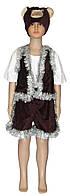 Костюм карнавальный детский 0707 Мишка Медведь велюр, р.р.104-140 см