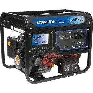 Однофазный бензиновый генератор AGT 6501 MSBE (5.7 кВт)