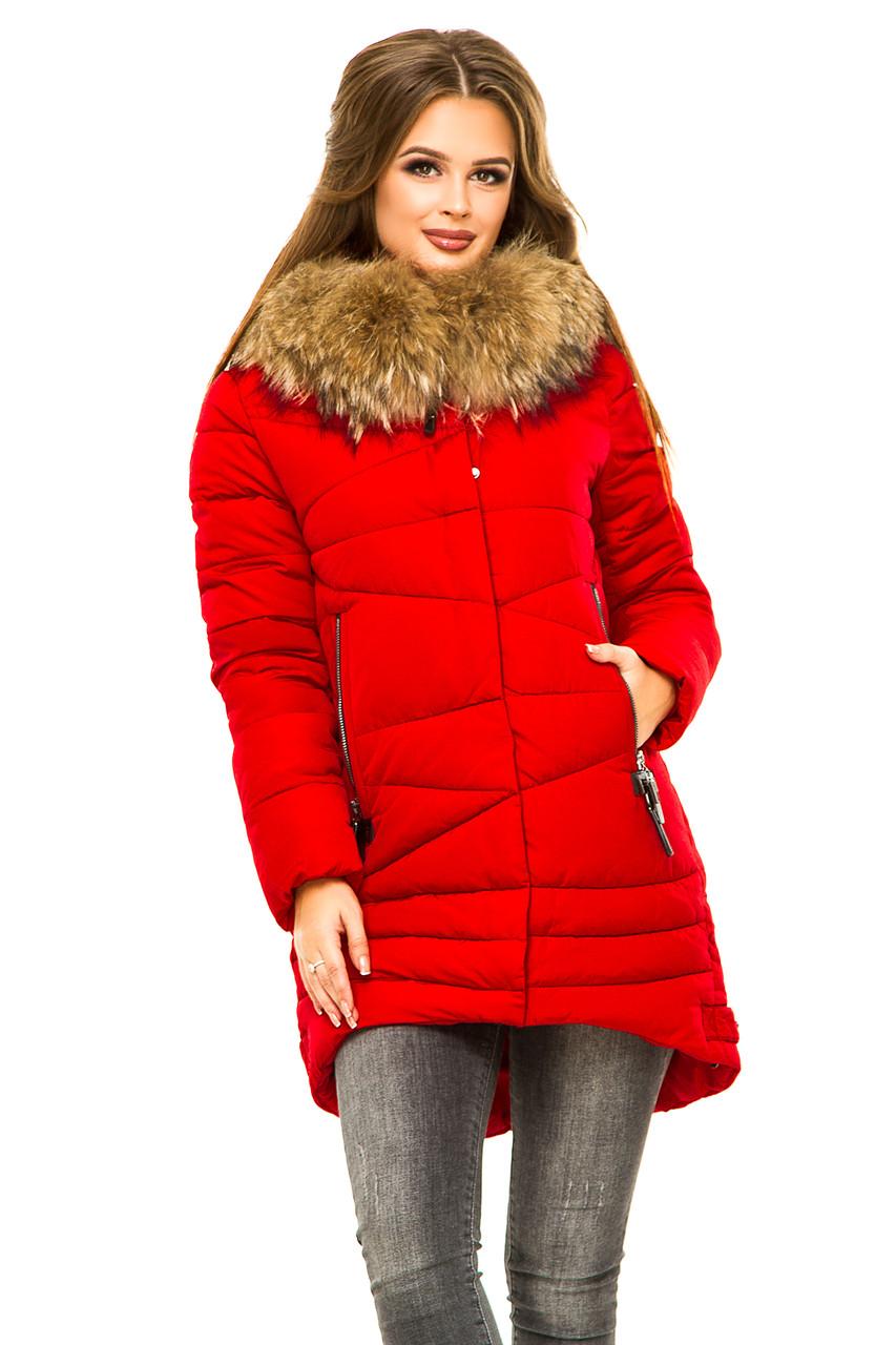 6fc837c682f Модная зимняя женская куртка с мехом енота представлен в каталоге ...