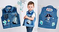 Джинсовая жилетка для мальчика  (110)