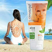 Солнцезащитный водонепроницаемый крем для лица и тела с экстрактом алоэ Aloe VeraSun Cream SPF 60, 100g