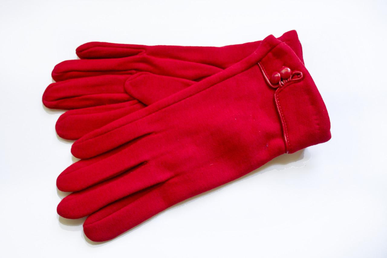 Женские стрейчевые перчатки Красные 118S2