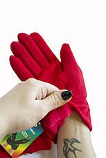 Женские стрейчевые перчатки Красные 118S2, фото 3