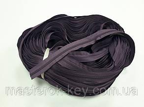 Молния спиральная рулонная №5 цвет темно сиреневый #007