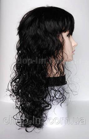Парик черный, кудрявый (мокрый волос), фото 2