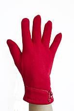 Женские стрейчевые перчатки Красные 118, фото 2