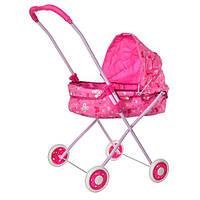 Розовая Коляска для кукол 882 Розовая
