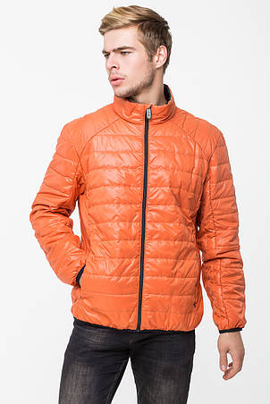 Демисезонная мужская куртка T-101 оранжевого цвета (#ORNG), фото 2