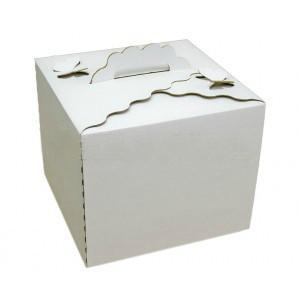 Коробка самосборная для торта с бабочкой 30*30*25 Галетте -04797