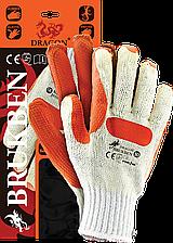 Перчатки BRUKBEN WP защитные проклеенные, с резинкой Reis Польша