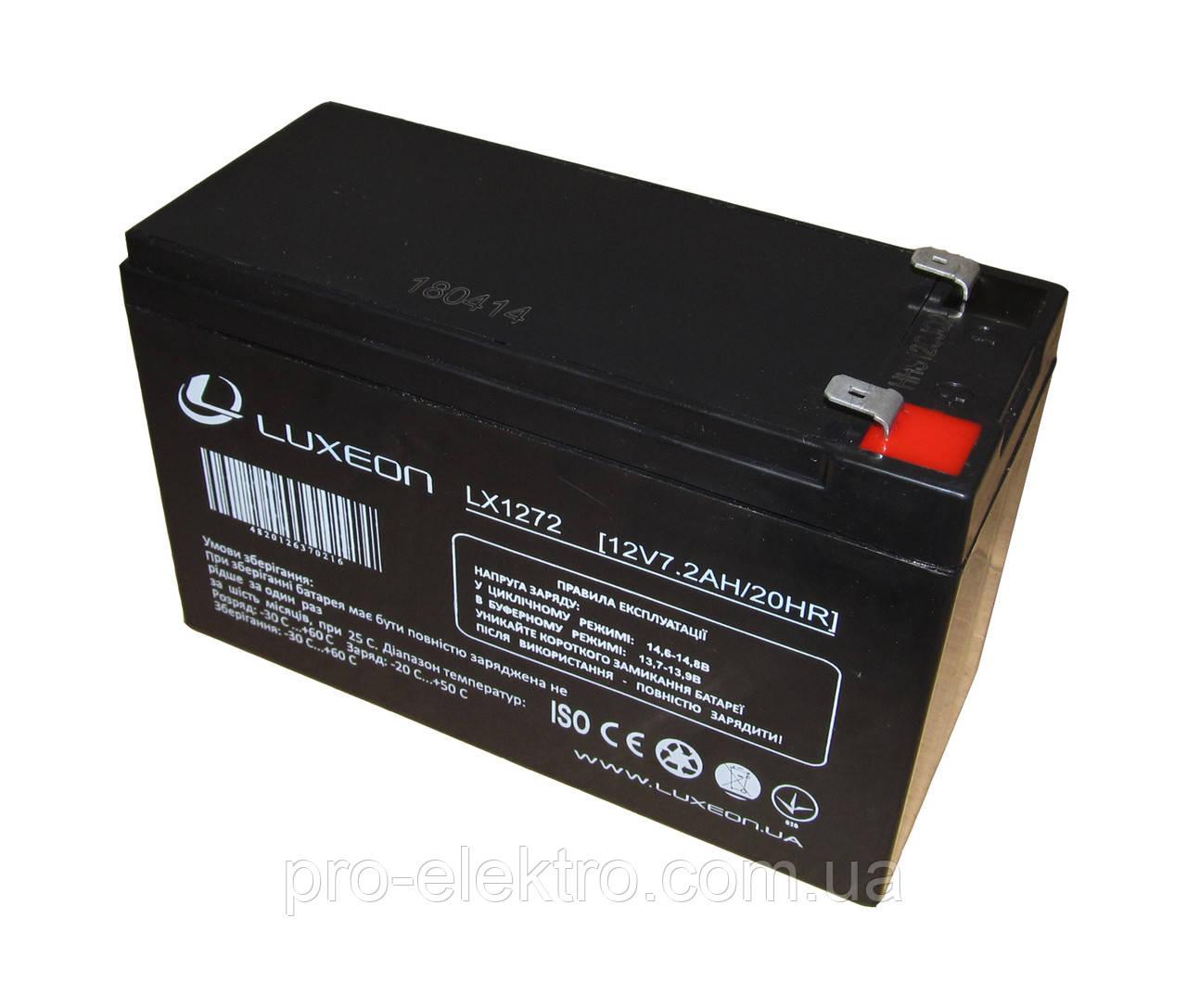 Аккумуляторная батарея LUXEON LX 1272