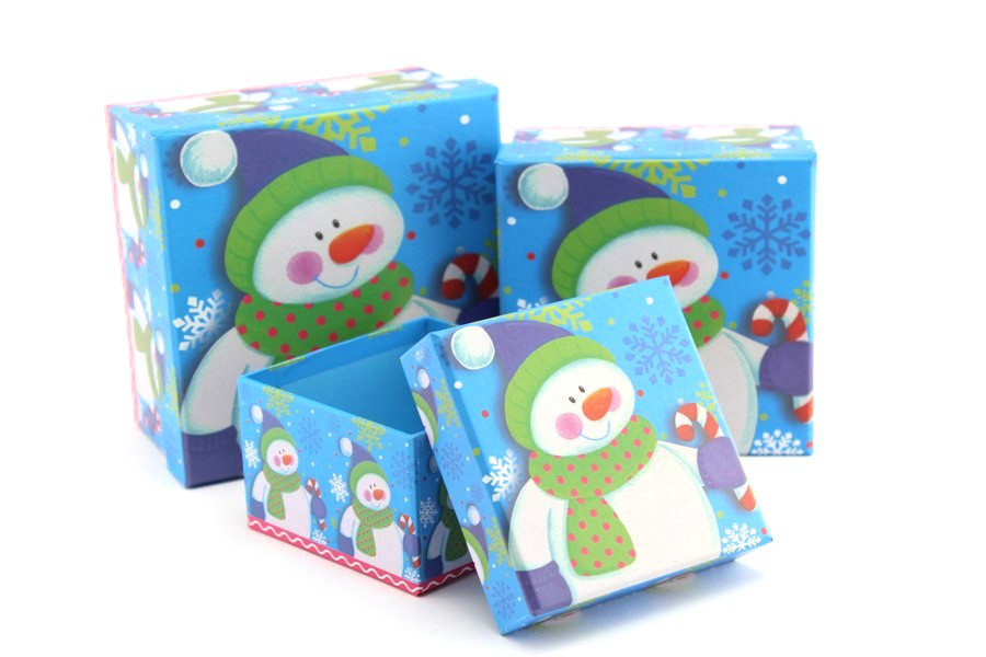 Подарочная коробка Добрый Снеговичок