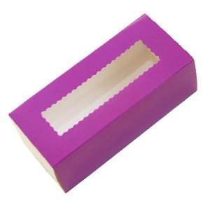 Коробка для Macaron  с окошком сиреневая 14см x6см.Украина - 04669