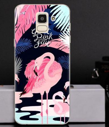 Оригінальний чохол накладка для Samsung J6 2018 Galaxy J600 з картинкою Фламінго