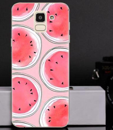 Оригинальный чехол накладка для Samsung J6 2018 Galaxy J600 с картинкой Арбуз