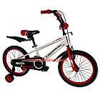 Детский велосипед Crosser Sports 18 дюймов бело-красный, фото 2