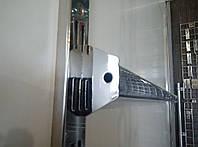 Перемичка (балка) хром довжиною 60см для рейкового торгового обладнання