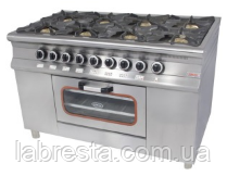 Плита газовая  Pimak МО15-8 на 8 конфорок с духовкой