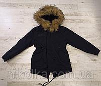 Парка на меху для девочек оптом, Glo-Story, 134/140-170 рр., арт.GSX-5044, фото 2